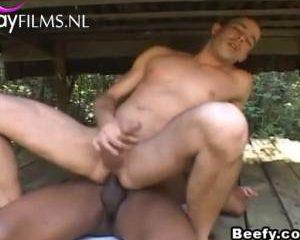 In de wildernis neukt hij hem anaal
