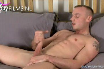 Seks auditie van zalig homo schoffie