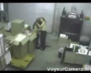 Betrapt tijdens pijpbeurt op kantoor