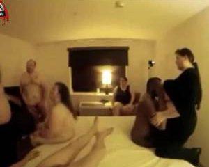 Een dikke mensen sex orgie